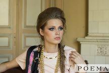 Rochie din piele POEMA / Rochie din piele ecologica roz pastel de la POEMA - colectia toamna-iarna '14-'15
