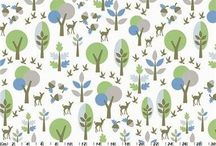 CPF Botanical Collections / Organic cotton print fabric from Copenhagen Print Factory - all the Botanical patterns
