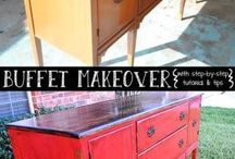 Furniture makeover / Upsicle old furniture and give it a new look, makeover of old pieces to create a lovely modern look, cheap DIY