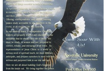 Apostolic University / Education, training, certification, and empowerment for today's Christian leader.  www.apostolicuniversity.org