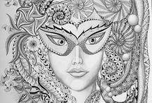 Zantangles  / Fairy Tangles