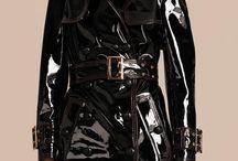 Black Vinyl Raincoat