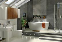 BATHROOM / #bathroom #salle de bain #home #déco #lavabo #baignoire #moderne #contemporain #scandinave