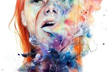 abstrakt portrett