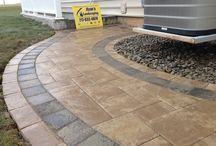 Artistic Walkway Designs by Ryan's Landscaping / Ryan's Landscaping specializes in unique and artistic designs for paver patios, walkways, & other hardscapes. www.ryanslandscaping.com