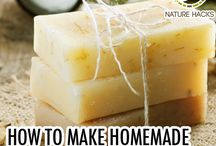 home made soap and cleaners etc