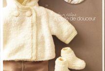 Model tricot bebe poncho veste 2