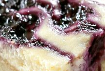 Blueberry lemon cheesecake bars / Cheesecakes