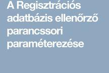 Regisztrációs adatbázis
