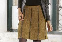 strikkede nederdele