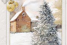 Joulu, piirretyt kuvat.