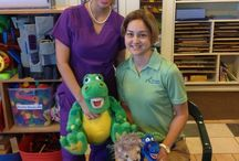 Preschool Visit February 2014 / Dr. Marshall and Sabrina visited a preschool last month to talk about dental health care.