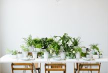 Botanical with a touch of color / Wedding
