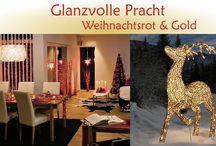 Glanzvolle Weihnachtsbeleuchtung / Weihnachtsbeleuchtung - Glanzvolle Pracht:  Ein Hauch von Luxus mit den traditionellen Weihnachtsfarben Rot und Gold mit himmlischen, filigranen Motiven und warmweiß strahlenden LED.  Lasst Euch von unserer Weihnachtwelt inspirieren und verzaubern!