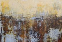 Cold Wax abstract painting