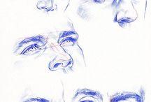 Глаза и нос