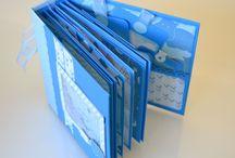 """Mini Álbum Scrapbook coleção  """"Baby Boy"""" Imaginisce / Mini Álbum utilizando técnica scrapbook, papel azul gramatura 180 gr."""