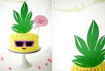 pineapple themed cakes