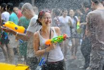 Songkran - Wild, crazy, fun! / Songkran is the Thai New Year festival held every April. For almost a week the whole country revels in the world's biggest water fight. #Songkran