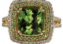 August Birthstone - Peridot / The curious birthstone for August is entitled Peridot. Peridot holds a strong lime green color and it is one of the few gemstones that only consists of one true shade. Legend tells us that Peridot is believed to inspire power and influence. In addition to this, it also can protect the owner against nightmares.