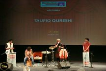 5th Veda : Colours of Rhythm by Taufique Qureshi / Taufiq Qureshi ,the renowned percussionist conducted a workshop on music at Whistling Woods as a part of #5thVeda Event. The musical involved a spiritual AV and a 15- minute documentary to start off with. Subhash Ghai joined Taufiq Qureshi on stage and Mr.Ghai played drums which received a standing ovation. Later Mr.Qureshi presented the Art of Music Designing with the title song of Dhoom 2. All-in-all it was quite a remarkable evening at the Whistling Woods