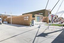 Padiglione Giappone - Expo 2015 / esecuzione di pavimentazione cementizia, incollaggio di PVC e moquette con ULTRATOP, PRIMER SN, ULTRABOND ECO V4 SP, ULTRABOND ECO FIX