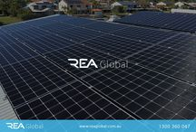 REA Global : Residential Solar   Solar brisbane / REA Global is leading the way in solar innovation. We extensively work on the research and development of solar power applications that produce more power from a lower footprint and thus minimizing the space required on a home or business roof or ground mounted solar. Our technology is also compatible and leading in battery technology giving our clients the ability to store Their surplus solar production for night time use.