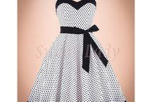 Bodkované retro šaty