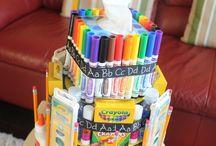 torta materiale scolastico