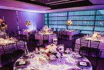 Purple, Black and White DC Wedding
