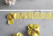 fleurs en tissu tuto