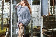 Voksen poncho / Inspirasjon til strikket poncho i voksen størrelse.