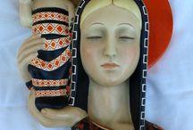 madonna con bambino ceramica