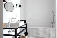 // b a t h / bathroom | decor | tiles | inspiration | showers | tubs | relaxing | clean lines | frames | glass | mirrors | texture