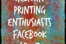 Gelatin Printing Enthusiasts / Art created through gelatin/gelli plate printing.