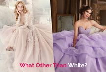 Non-White Wedding Dresses / Find the beautiful Tips and Tricks to Choose your Perfect Non-White Wedding Dresses for your Special Day.
