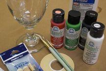 Brady Gurl Wine Glass & Mo painting