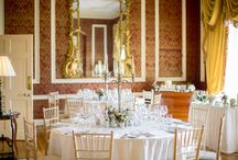 Intimate Wedding Setting / An intimate wedding for 30 guests in the Main House Red & Gold Sitting Room.
