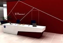 Banko,Desk ve Karşılama Üniteleri. / Solid Surface Akrilik Plakalar ve Ahşap Giydirmeler ile Uygulanmış İmalatlardır.