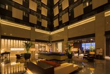 Isolated place from the bustle of city / 27F Lobby atrium of Hotel Metropolitan Marunouchi.