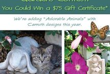 Carruth Beautiful Gardens Contest 2014 / Time for our 2014 Beautiful Gardens Contest! We're adding Adorable Animals with Carruth Designs this year!