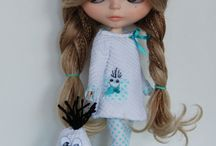 Blythe doll fashion and photo set up / Blythe dolls their clothes and hair styles