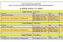 Our Summer 2017 Schedule