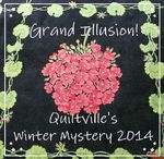 Grand Illusion Mystery / Showing progress on Bonnie Hunter's Mystery on Quiltville.blogspot.com