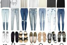 outfits / seasonal outfits organized in a chaotic pattern:-)