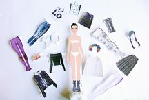 Lola paper doll / paper fashion model with paper clothes set