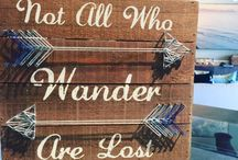 Signs / Gorgeous reclaimed wood and locally created signs!