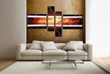 Modern enteriőr - Absztrakt vászonképek / Különleges absztrakt festett vászonképek egyedi, modern stílust adnak otthonodnak. Intenzív színek, szokatlan formák elvarázsolják szobád hangulatát - Hagyd, hogy elvigyen a képzelet és a fantázia.