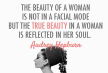 "Audrey Hepburn-""my inspiration""!"