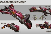 bow,crossbow,nife,gun